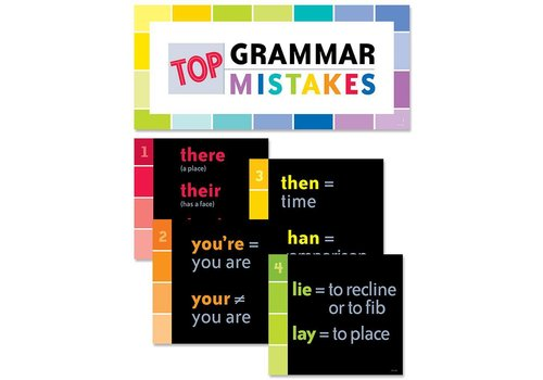 Creative Teaching Press Top Grammar Mistakes Bulletin Board
