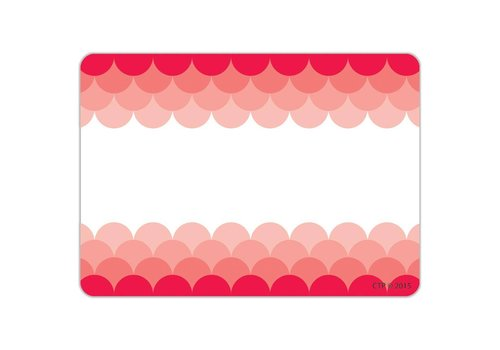 Creative Teaching Press Painted Palette Ombre Poppy Red Scallops Labels