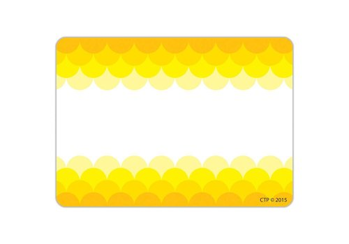 Creative Teaching Press Painted Palette Ombre Yellow Scallops Labels