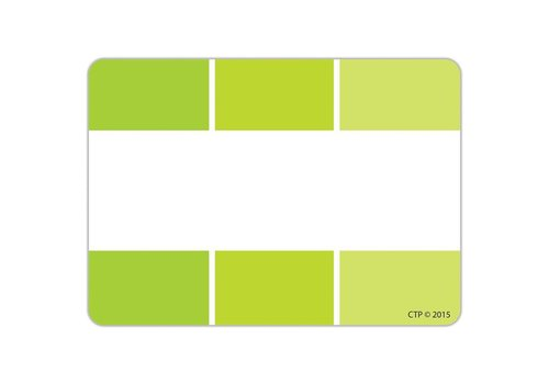 Creative Teaching Press Painted Palette Lime Green Paint Chip Labels