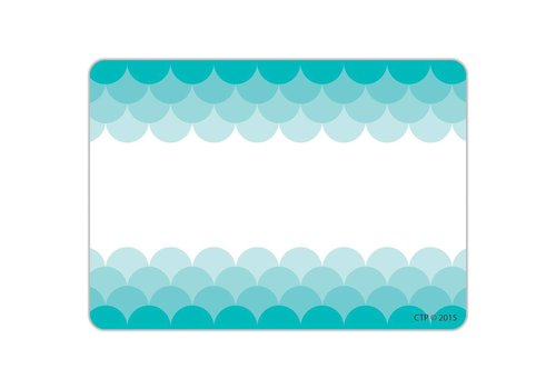 Creative Teaching Press Painted Palette Ombre Turquoise Scallops Labels
