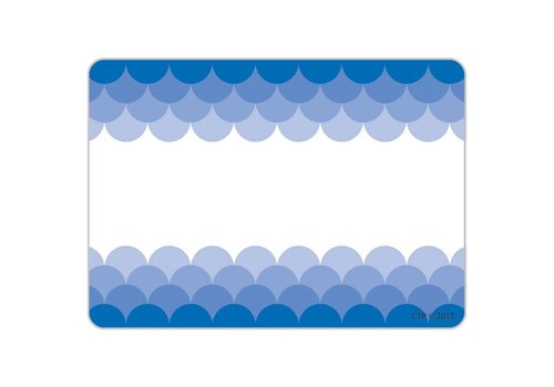 Creative Teaching Press Painted Palette Ombre Blue Scallops Labels