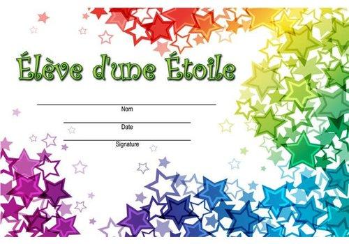LEARNING TREE Eleve d'une Etoile French Award *