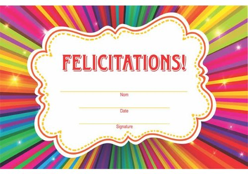 LEARNING TREE Felicitations! French Award