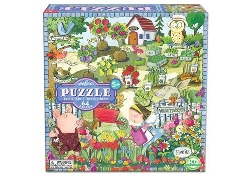 Eeboo Growing A Garden 64 Piece Puzzle E