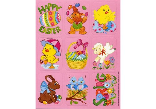 EUREKA Happy Easter Giant Stickers