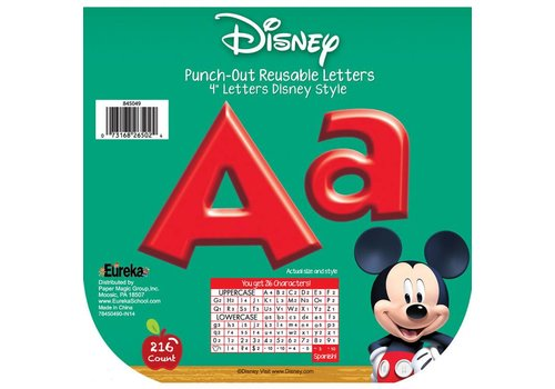 EUREKA Mickey Mouse Clubhouse Mickey Red Letters