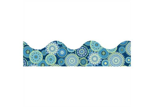 EUREKA Blue Harmony - Mandala Scalloped Border