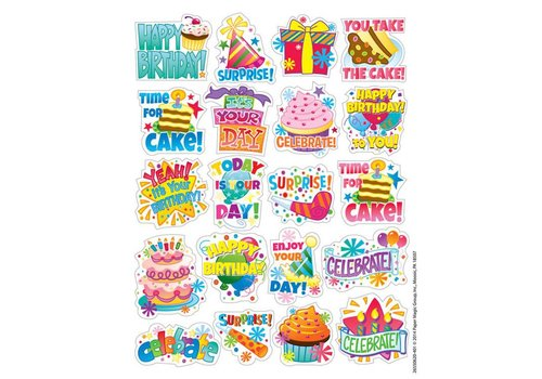 EUREKA Birthday Stickers *