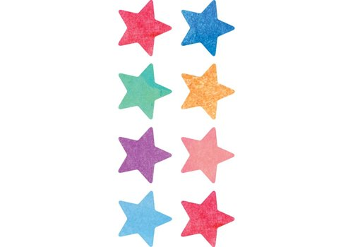 Teacher Created Resources Watercolour Stars Mini Stickers