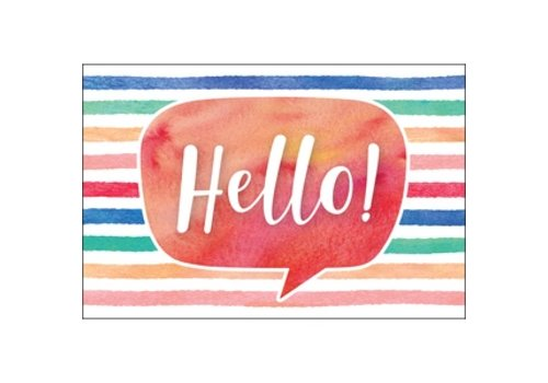 Teacher Created Resources Watercolor Hello Postcards