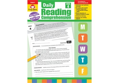 Evan Moor DAILY READING COMPREHENSION, GRADE 4 (Revised)