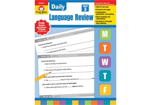 Evan Moor DAILY LANGUAGE REVIEW GRADE 3