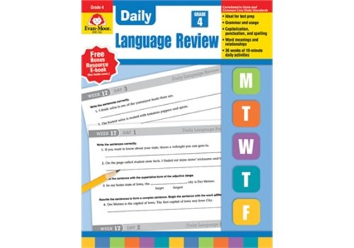 Evan Moor DAILY LANGUAGE REVIEW GRADE 4