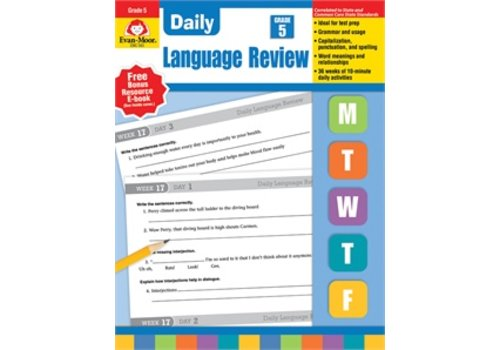 Evan Moor DAILY LANGUAGE REVIEW GRADE 5