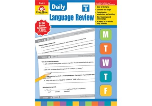 Evan Moor DAILY LANGUAGE REVIEW GRADE 6+