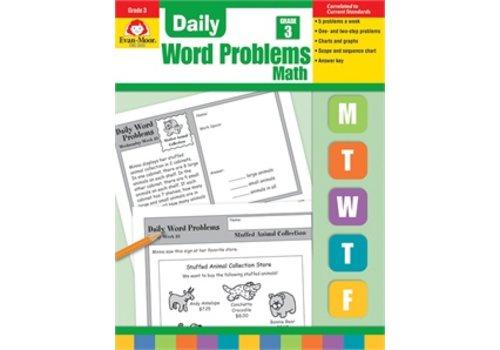 Evan Moor DAILY WORD PROBLEMS GRADE 3 REVISED *