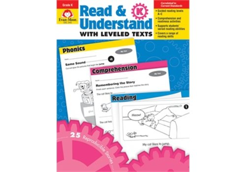 Evan Moor READ AND UNDERSTAND WITH LEVELED TEXTS, GRADE K