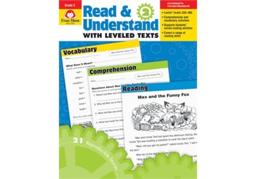 Evan Moor READ AND UNDERSTAND WITH LEVELED TEXTS, GRADE 2