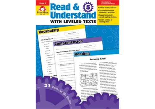 Evan Moor READ AND UNDERSTAND WITH LEVELED TEXTS, GRADE 5