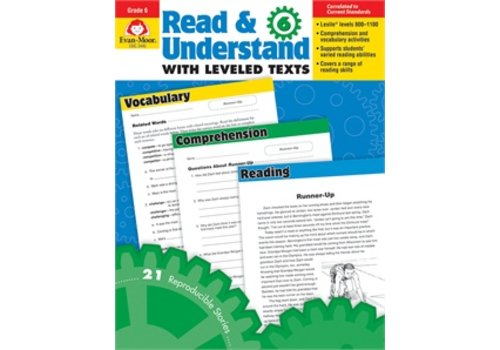 Evan Moor READ AND UNDERSTAND WITH LEVELED TEXTS, GRADE 6