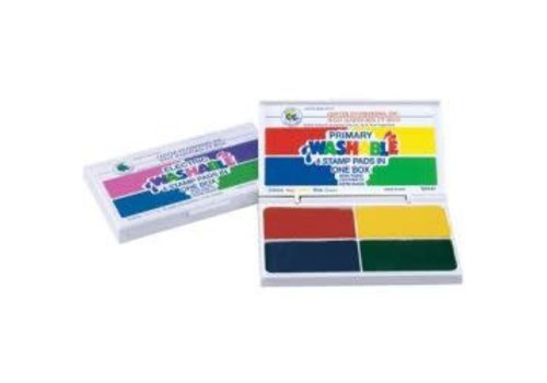 CENTER ENTERPRISES Washable Primary 4 in 1 Stamp Pad