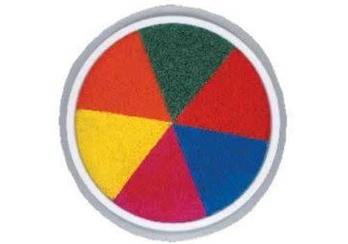CENTER ENTERPRISES Ready2Learn Circular Jumbo 6 in 1 Rainbow Washable Stamp Pad