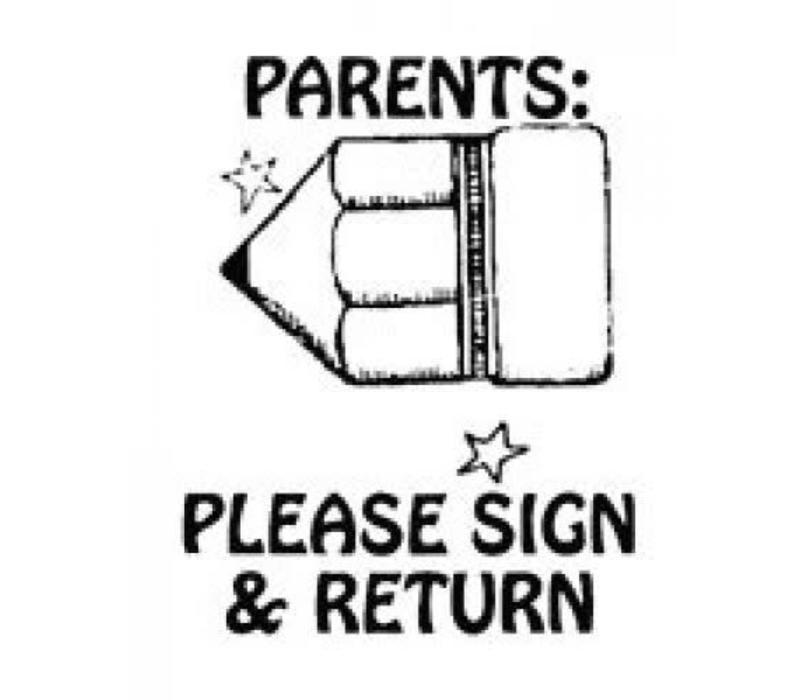 Jumbo Teacher Sign Return *
