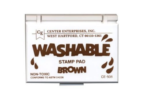 CENTER ENTERPRISES Brown Washable Stamp Pad *