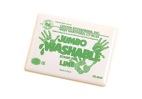 CENTER ENTERPRISES Lime Green Jumbo Washable Stamp Pad *
