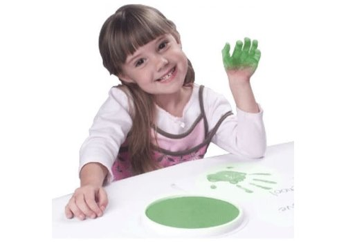CENTER ENTERPRISES Ready2Learn Circular Jumbo Green Washable Stamp Pad