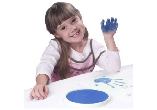 CENTER ENTERPRISES Ready2Learn Circular Jumbo Blue Washable Stamp Pad
