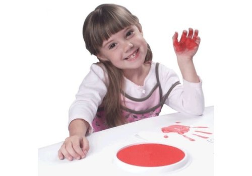 CENTER ENTERPRISES Ready2Learn Circular Jumbo Red Washable Stamp Pad
