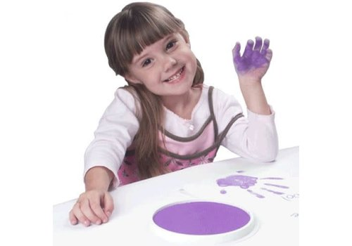 CENTER ENTERPRISES Ready2Learn Circular Jumbo Purple Washable Stamp Pad *