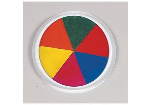 CENTER ENTERPRISES Ready2Learn Circular Jumbo Rainbow Washable Stamp Pad *
