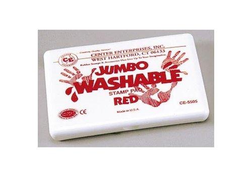 CENTER ENTERPRISES Red Jumbo Washable Stamp Pad