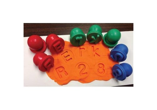 CENTER ENTERPRISES Uppercase Dough & Paint Alphabet Stampers