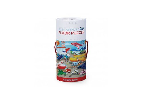 Crocodile Creek Busy Airport 50 pc Floor Puzzle