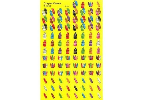 Trend Enterprises Crayon Colors Mini Stickers