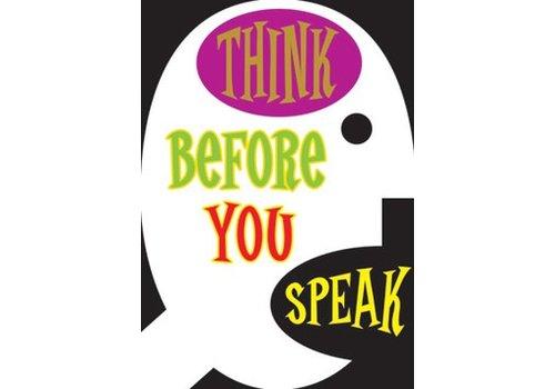 Trend Enterprises Think before you speak poster