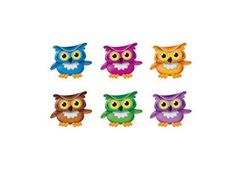 Trend Enterprises Bright Owls Mini Accents Variety Pack, 36