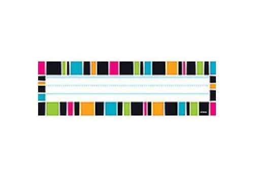 Trend Enterprises Stripe-Tacular Groovy Name Plate