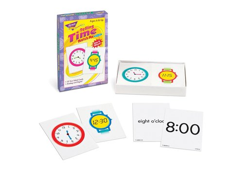 Trend Enterprises Telling Time Match-Me Cards *