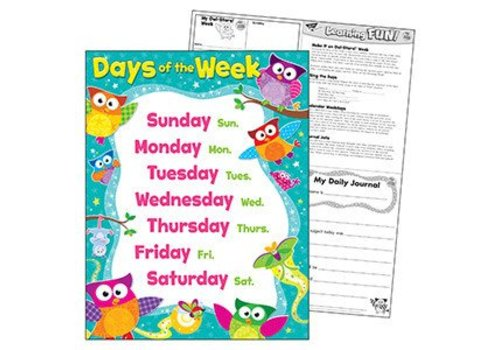 Trend Enterprises Owl Stars Days of the Week poster