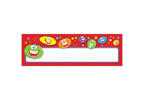 Trend Enterprises Smiley Faces Name Plate