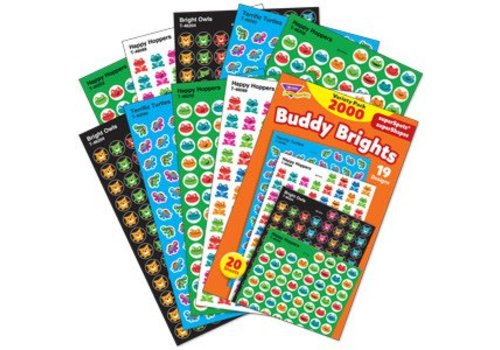 Trend Enterprises Buddy Brights Variety Pack Stickers