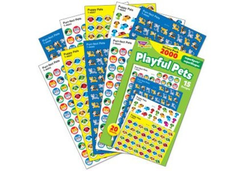 Trend Enterprises Playful Pets Variety Pack Stickers