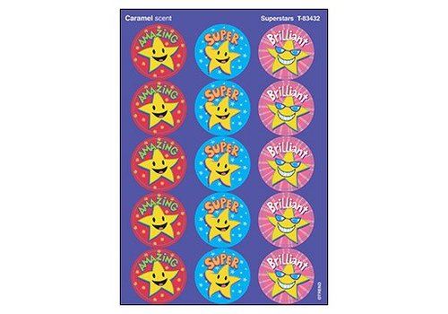 Trend Enterprises Superstars Stinky Stickers, Caramel
