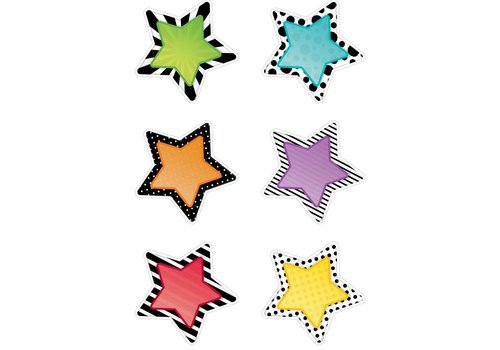 "Creative Teaching Press STARS 6"" DESIGNER CUT-OUTS"