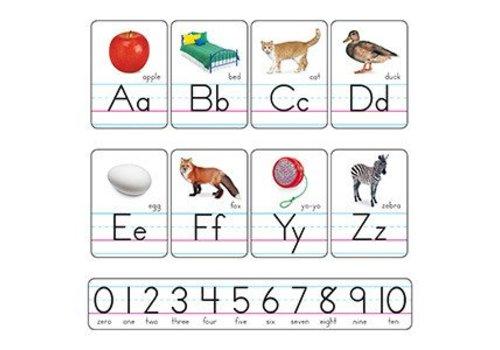Trend Enterprises Photo Alphabet Cards Zaner-Bloser Manuscript
